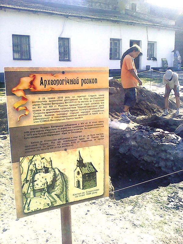 Розкопки на території Старої фортеці