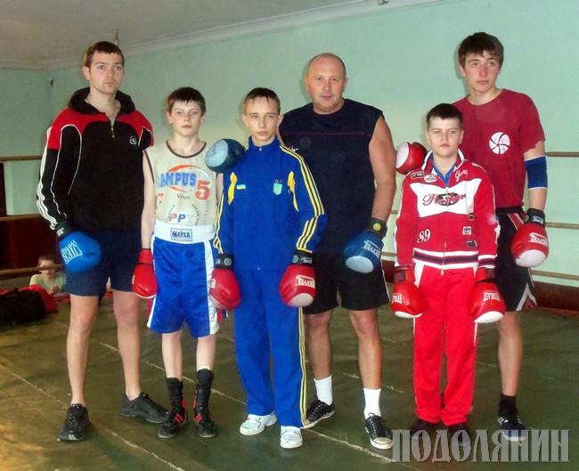 Валерій СЛОБОДЯН з юними боксерами