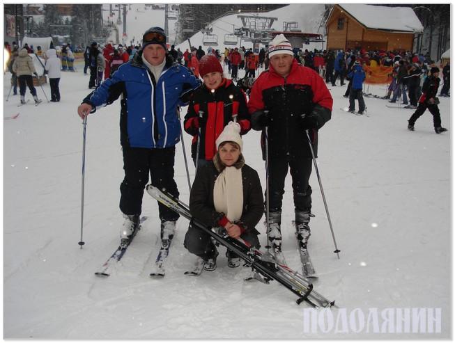 Юрій Скринчук з дружиною Тетяною, донькою Наталією та братом