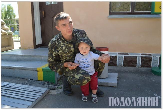 Навідався до тата-захисника Олександра Штанькевича син Іллюша