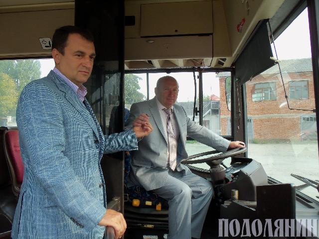 Ключі саме від цього автобуса Володимир Володимирович вручив міському голові Михайлу СІМАШКЕВИЧУ 31 серпня