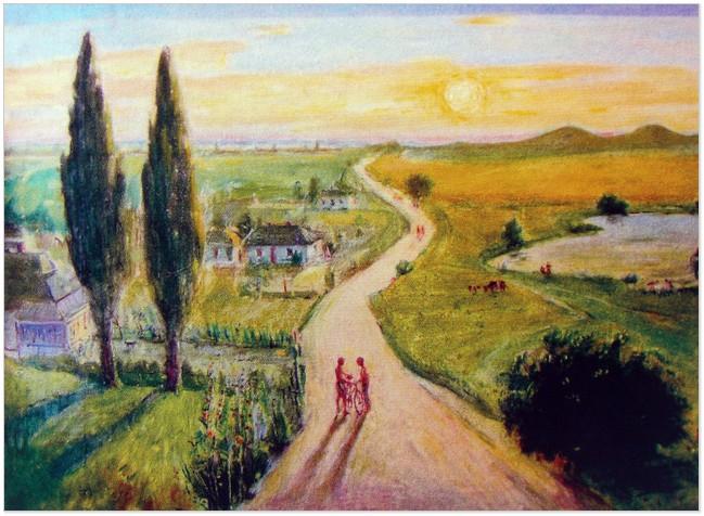 «Вербецький краєвид». Картина Аркадія Данилюка