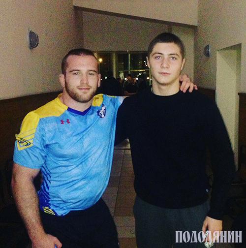 Данило Стасюк (праворуч) із Олімпійським чемпіоном Ріо-де-Жанейро Кайлом Снайдером