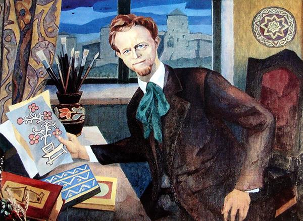Портрет Володимира Гагенмейстера роботи Михайла Ліщинера. 1976 рік