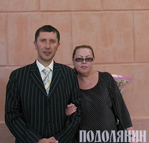Олег Рарицький і донька Михайлини Коцюбинської Тетяна
