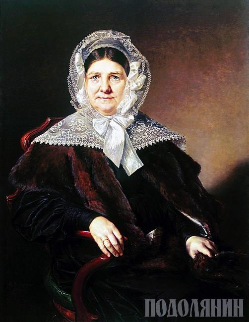 Бабуся княгині - Анна МАЗУРІНА.  Портрет роботи Василя ТРОПІНІНА, 1839 р.