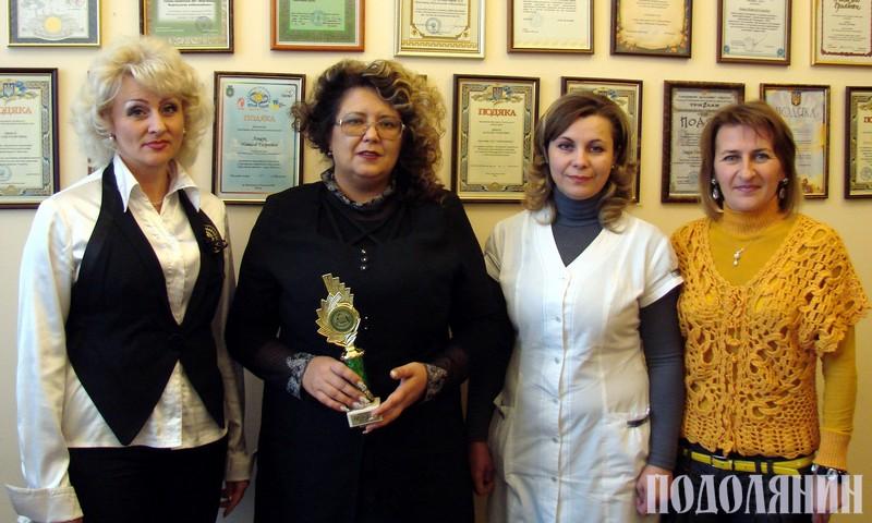 Зліва направо: Наталія ГОНЧАРОВА, Наталія ЛЯЩУК, Світлана КУЧЕРЯВА,  головний бухгалтер Олена КРИСЬКО