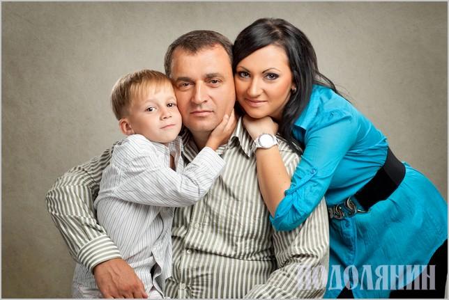 З дітьми Оленою та Олексієм