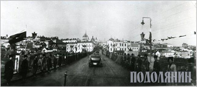 Проїзд російського імператора через Новопланівський міст