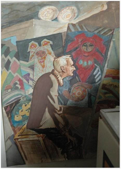 Портрет Олександра Грена, виконаний Аркадієм Данилюком