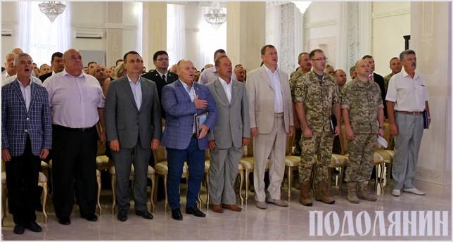 Урочистості розпочалися із виконання гімну України
