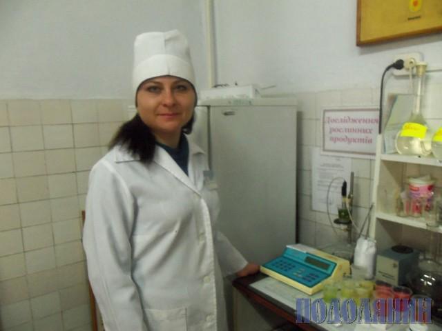 Лаборант Наталя БОДНАР