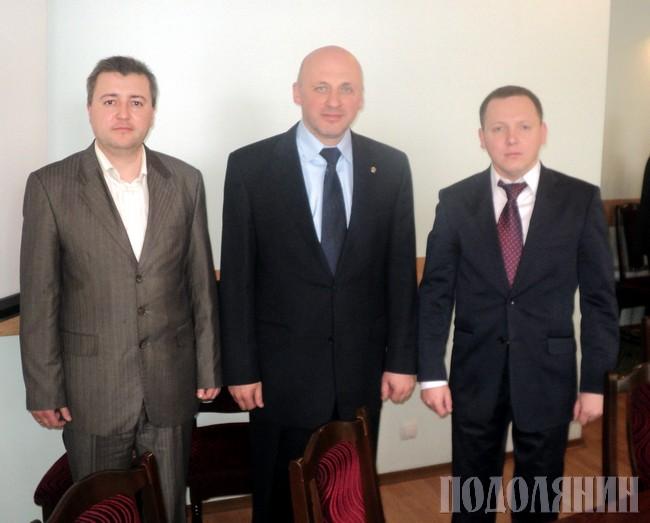 Зліва направо: Павло ВАСИЛЕНКО, Олександр КСЕНЖУК, Віктор ХУДНЯК