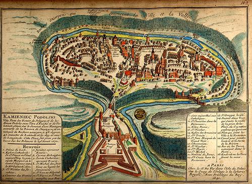 Французька карта Старого міста та замку 1691 року