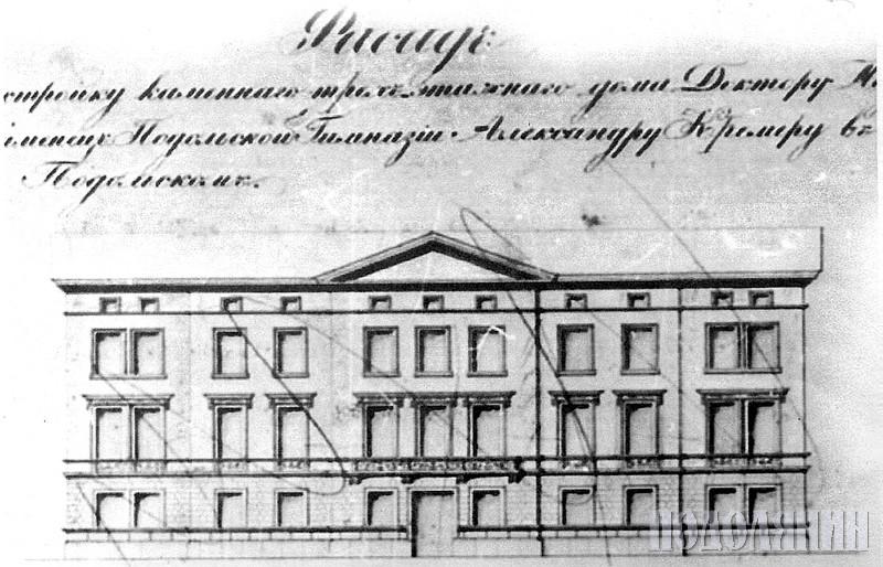 Фасад будинку у XIX ст.