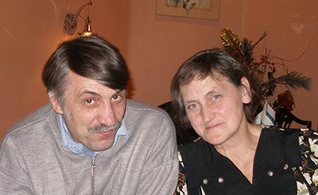 З дружиною Ольгою Віталіївною під час святкування річниці «Подолянина», 26 грудня 2010 р.