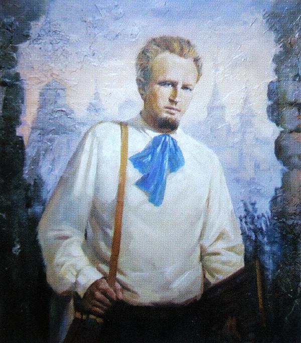 Портрет Володимира Гагенмейстера роботи Івана Гуцула. 2013 рік