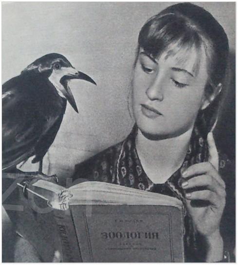 Грак Карпуша і Наталочка Куликова. Ілюстрація із книжки «Блакитний птах  у синьому небі»