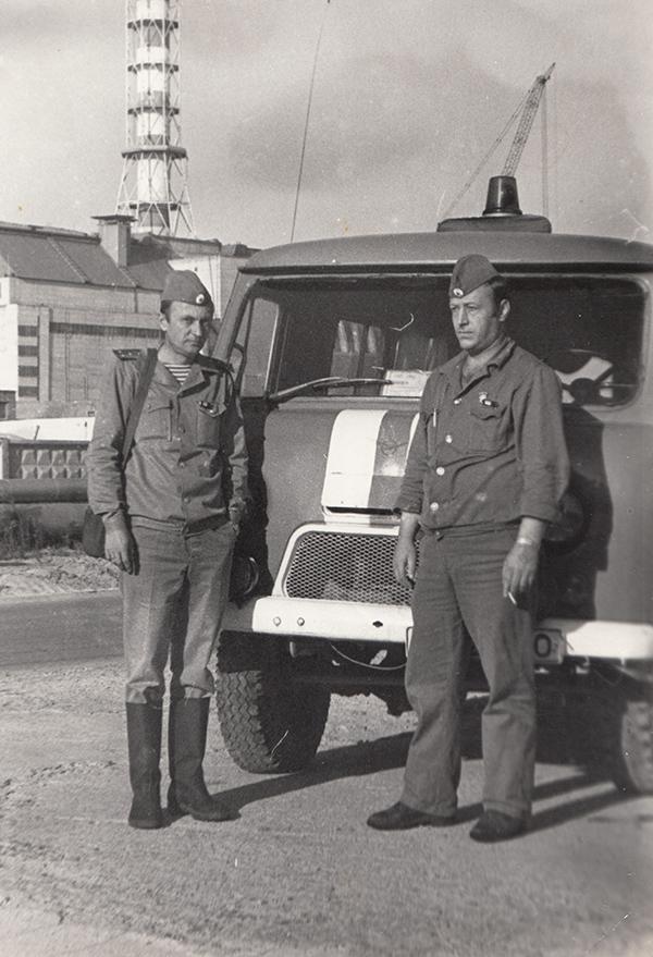 Микола Кащук (праворуч) в Чорнобилі