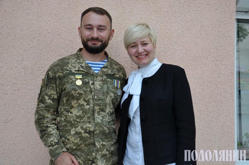 Лариса Ніцой та Дмитро Івахнюк в гостях у редакції «Подолянина»