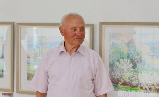 Микола Мельник під час відкриття виставки. Фото Петра Ігнатьєва