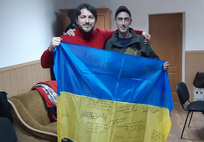 Сергій Притула частий гість на передовій
