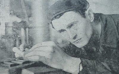 Слюсар-інструментальник Валентин Андрійонок, 1963 рік. Фото Андрія Герасимчука