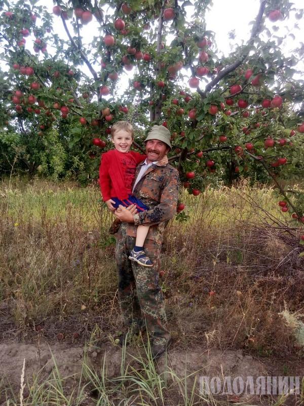 Анатолій Григорчук з онуком