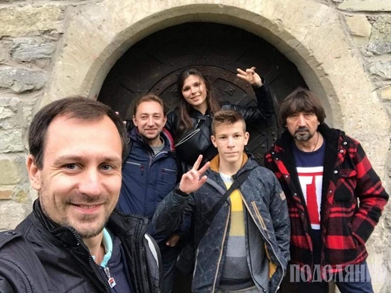 Учасники обміну із В'ячеславом Полятинчуком (на фото перший праворуч)