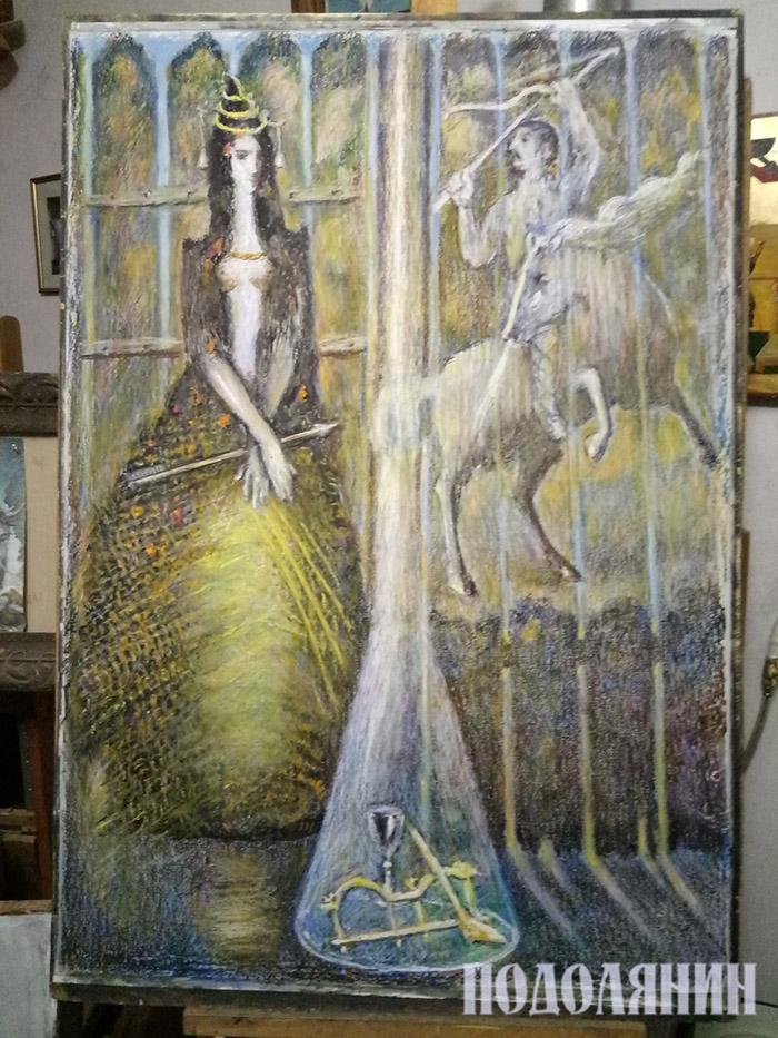 Остання робота Майстра. Фото зі сторінки доньки художника Ольги Негоди-Бучковської у фейсбуку