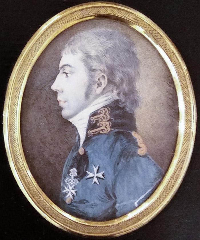 Рідкісний портрет коменданта Юзефа де Вітте (сина Яна) роботи Рокштуля