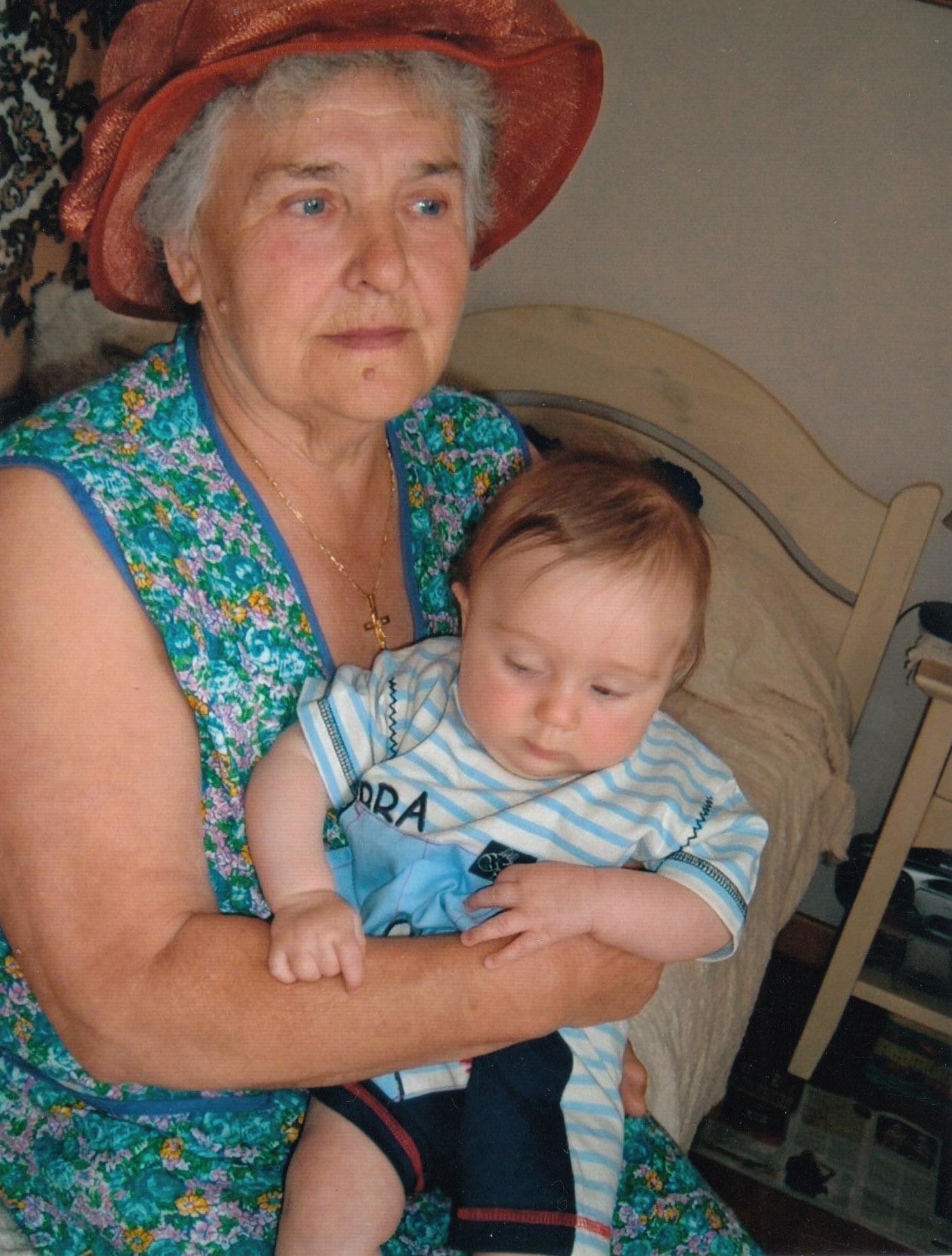 Людмила Іванівна з онуком
