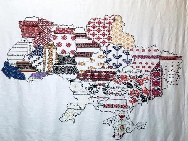 Вишита карта України з українського посольства у Туреччині