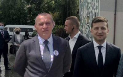 Анатолій Ковальський із Володимиром Зеленським у «Гала-готелі»