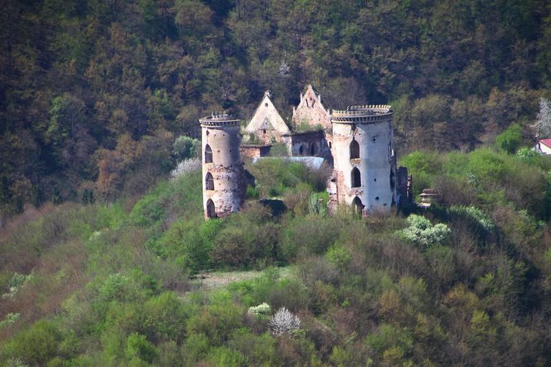 Панорама замку в Червоногроді