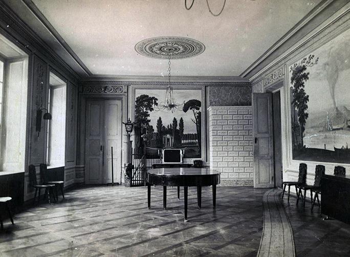 Так колись виглядала зала палацу в Маліївцях