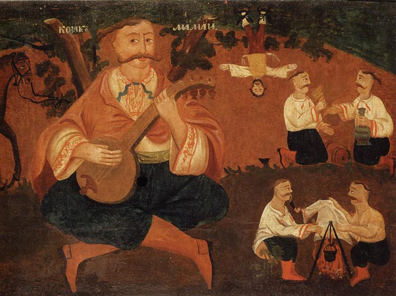 Козак Мамай, XIX ст., Національний художній музей