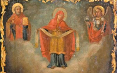 Козаки на іконі Покрови