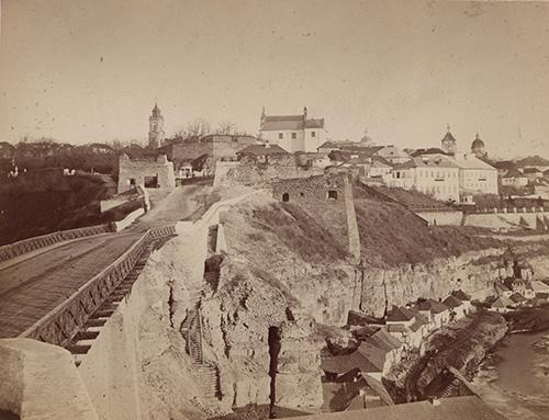 1876 р. Тісний Замковий міст. Фото Енгеля
