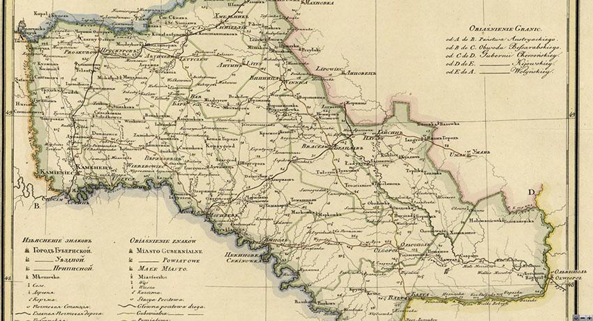 Карта Подільської губернії