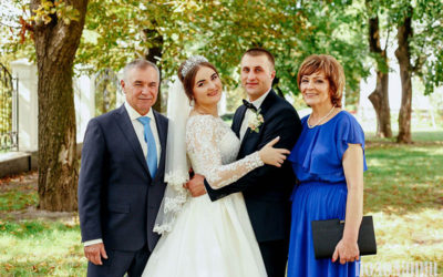 Юрій Пливанюк, донька Олена, зять Едуард та дружина Надія.