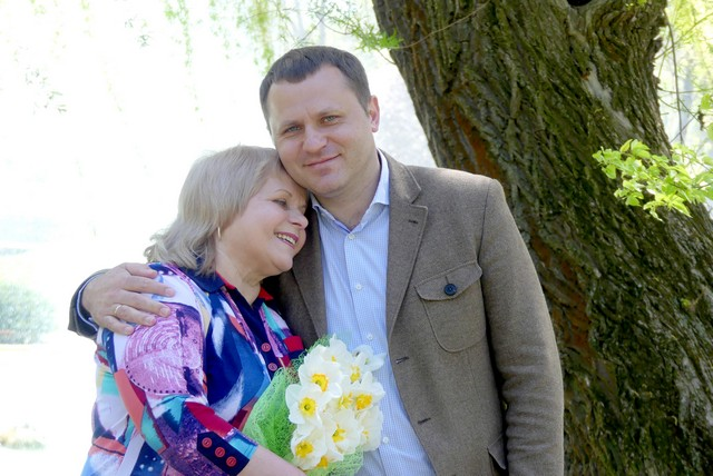 Михайло Посітко з мамою Галиною Вікторівною