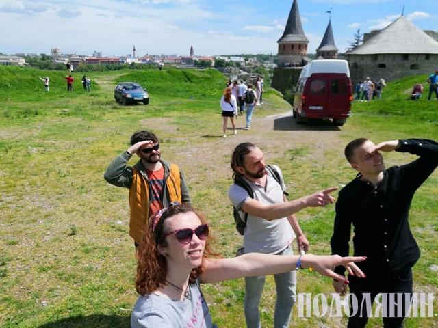 Гості на запуску повітряної кулі в Кам'янці-Подільському