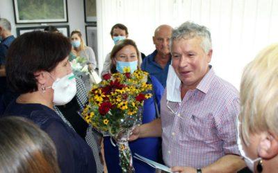 Олександр Брензей під час відкриття виставки. Фото Петра Ігнатьєва